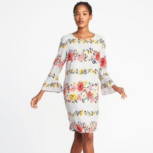 NWOT Old Navy floral print shift dress - M Tall
